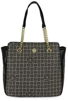 Anne Klein Printed Logo Chain Shopper Tote