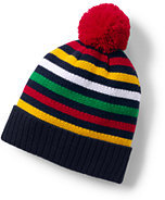 Lands' End Kids Holiday Pom Beanie-Rich Red