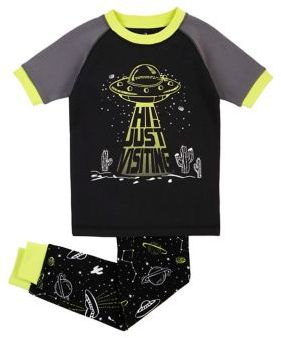 Petit Lem Boy's Space UFO Pajama Set