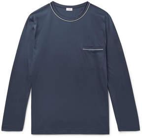 Zimmerli Contrast-Tipped Cotton-Jersey Pyjama Shirt