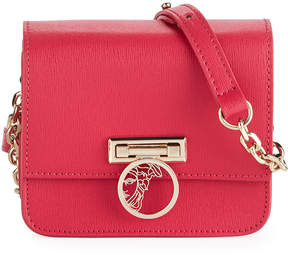 Versace Small Saffiano Leather Crossbody Bag with Medusa, Pink
