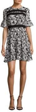 Cynthia Steffe Floral Bell Sleeve Dress