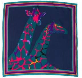 Louis Vuitton Giraffe Silk Square Scarf