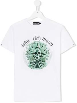 John Richmond Kids TEEN embellished skull T-shirt