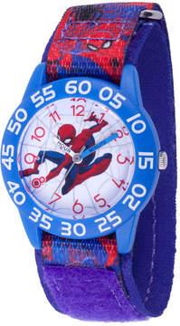 Marvel Spiderman Boys Blue Strap Watch-Wma000191