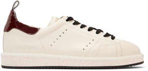 Golden Goose Deluxe Brand Off-White and Brown Starter Sneakers
