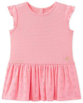 Petit Bateau Baby girl's dress with butterfly sleeves