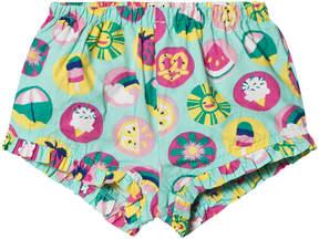 Hatley Green Summer Print Mini Ruffle Shorts
