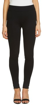 CeCe Women's Ponte Moto Leggings