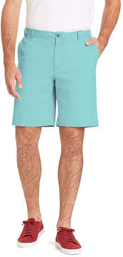 Izod Saltwater Stretch Flat Front Chino Shorts