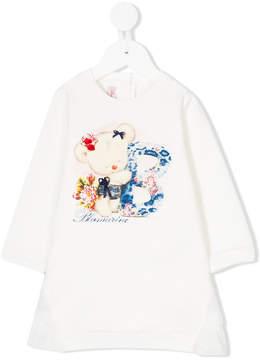 Miss Blumarine bear print T-shirt dress