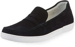 Giorgio Armani Men's Suede Slip-On Sneakers