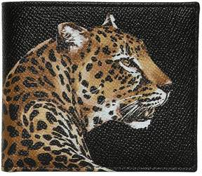 Dolce & Gabbana Leopard Printed Leather Classic Wallet