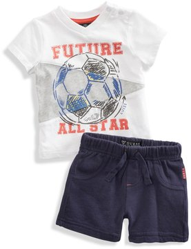GuessKids Pennant Tee and Shorts Set (0-9m)