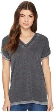 Alternative Burnout French Terry Co-Ed Deep V Tee Women's T Shirt