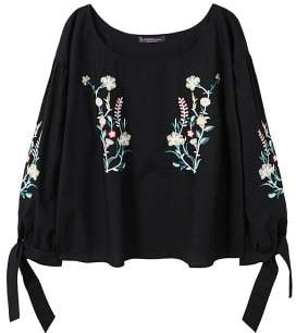 Violeta BY MANGO Floral embroidered blouse