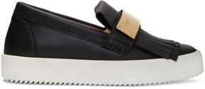 Giuseppe Zanotti Black May London Moccasin Sneakers