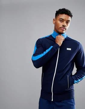 Jack Wills Sporting Goods Harlington Hi Neck Tracksuit Jacket In Navy