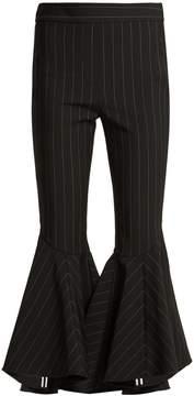 Ellery Sinous kick-flare pinstriped wool-blend trousers