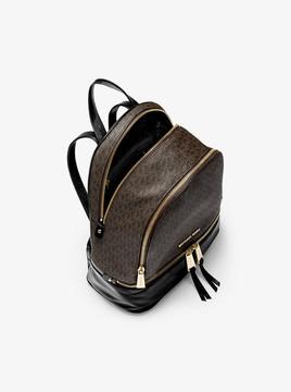 MICHAEL Michael Kors Rhea Medium Logo and Leather Backpack