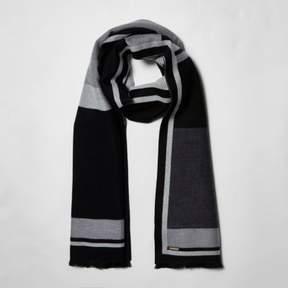 River Island Womens Black mono block print blanket scarf