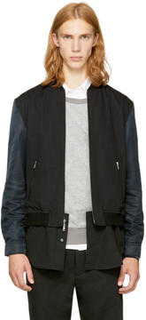 3.1 Phillip Lim Black Classic Shirt Bomber Jacket