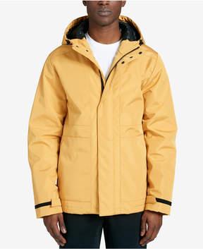DKNY Men's Mid-Length Hooded Raincoat