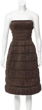 Alaia Strapless Ruched Dress