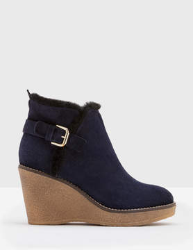 Boden Shearling Wedge Boots