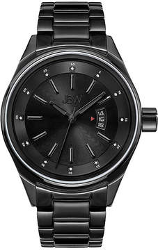 JBW Mens Black Ion Diamond Accent Bracelet Watch