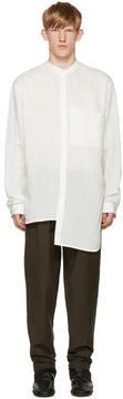 Isabel Benenato White Collarless Shirt