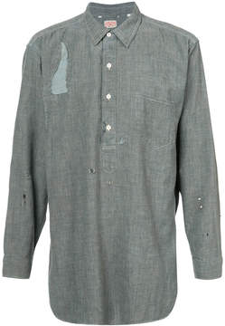 Levi's distressed denim shirt