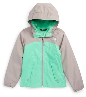 The North Face Girl's Warm Storm Hooded Waterproof Jacket