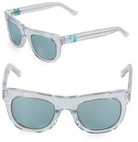 Westward Leaning Pharoah Clear 49MM Square Sunglasses