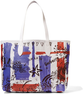 Burberry Medium Printed Coated-canvas Tote - White - WHITE - STYLE