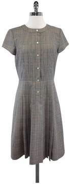 Brooks Brothers Grey & Red Plaid Wool Dress