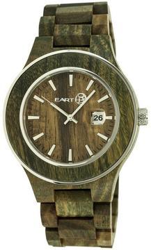Earth Cherokee Collection ETHEW3404 Unisex Wood Watch with Wood Bracelet-Style Band