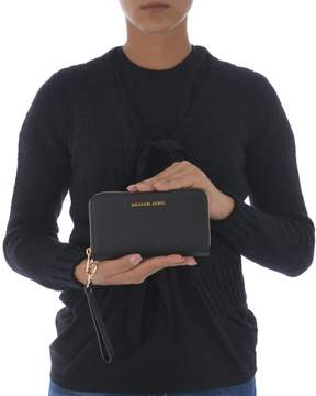 Michael Kors Jet Set Travel Zip Around Wallet - NERO - STYLE