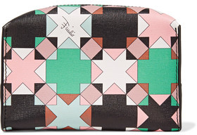 Emilio Pucci Printed Textured-Leather Cosmetics Case