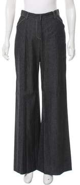 Behnaz Sarafpour Mid-Rise Wide-Leg Jeans w/ Tags