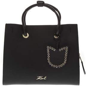Karl Lagerfeld K/karry Black Leather Bag