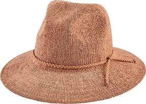 San Diego Hat Company Knit Fedora with Braided Faux Suede Trim CTH8078 (Women's)