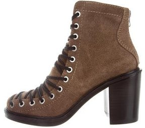 Elizabeth and James Suede Lace-Tie Boots w/ Tags