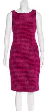 Chanel 2016 Flocked Tweed Dress
