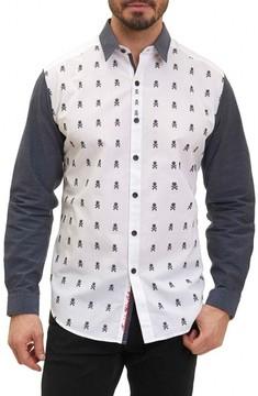 Robert Graham Men's Socal Print Sport Shirt