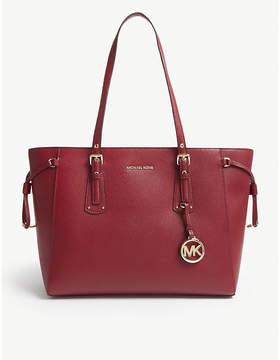 MICHAEL Michael Kors Michael Kors Brown Voyager Leather Tote Bag
