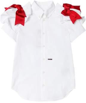 DSQUARED2 Cotton Poplin Shirt W/ Bows