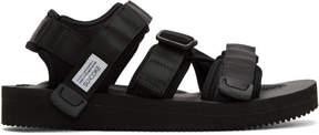 Suicoke Black Kisee-V Sandals