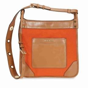 Michael Kors Sullivan Large Canvas Messenger Bag - Tangerine