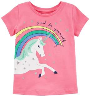 Carter's Toddler Girls Just Be Yourself Unicorn T-Shirt